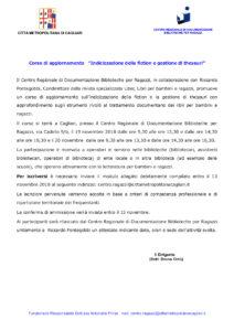 Comunicato Corso Indicizzazione Fiction Gestione Thesauri