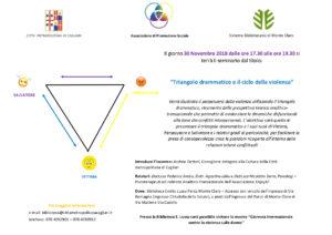 Locandina Seminario Triangolo Drammatico_Ciclo Violenza