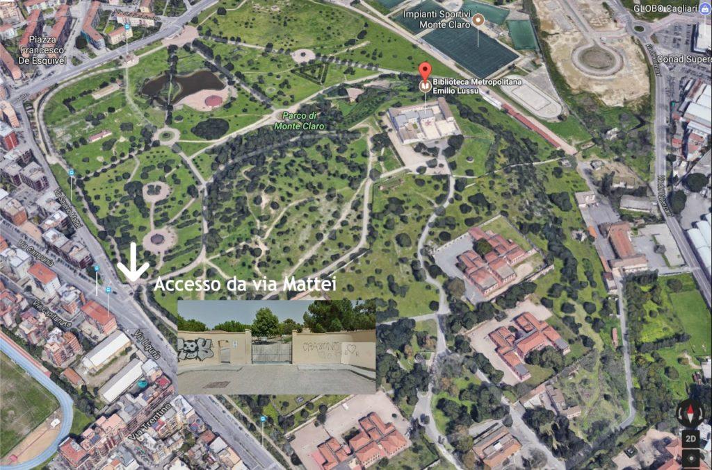 Accesso Biblioteca da Via Mattei Mappa