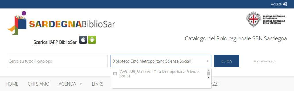 Catalogo on-line BiblioSar