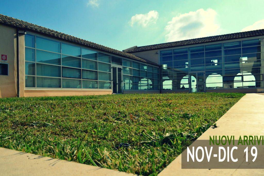 Nuovi arrivi in Biblioteca Novembre-Dicembre 2019
