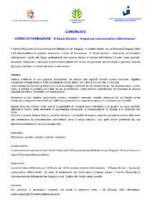 """Corso di formazione """"Il Gesto Sonoro – frequenze comunicative inMovimento"""""""
