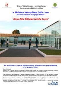Locandina Amici della Biblioteca Emilio Lussu